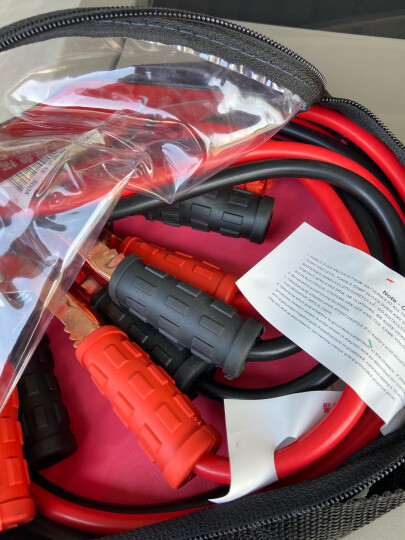 ANMA 电瓶线搭火线 打火线搭电线 过江龙连接线应急启动搭线电瓶夹2.5米 AM51500 晒单图