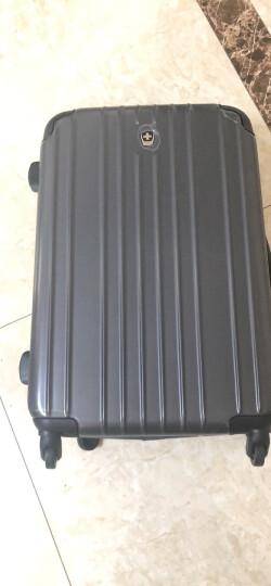 瑞动(SWISSMOBILITY)拉杆箱20英寸旅行箱 时尚轻盈登机箱行李箱静音万向轮男女 5553黑色 晒单图