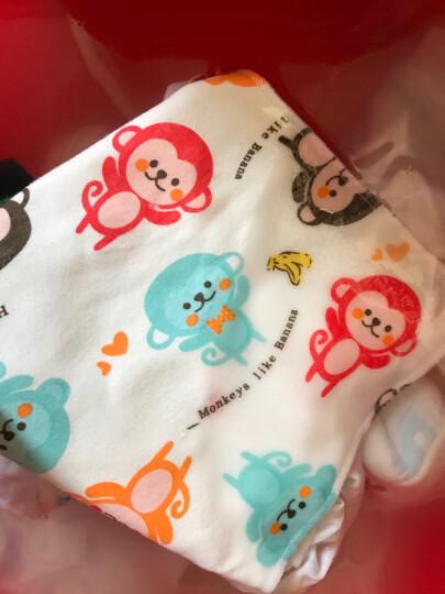 婴儿口水巾 婴儿围嘴宝宝三角巾双层暗扣口水巾儿童围巾包头巾全棉婴儿用品 1条颜色随机 晒单图