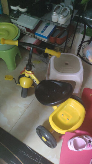 hd小龙哈彼 儿童三轮车小孩宝宝脚踏自行车 糖果绿LSR300-K228 晒单图