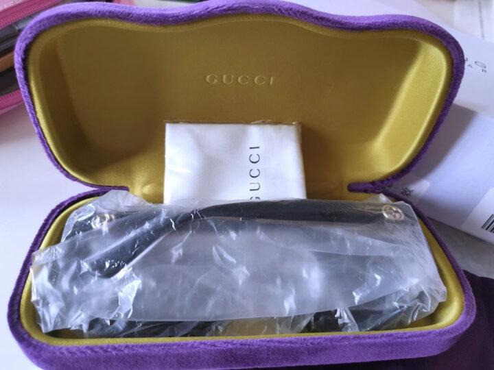 古驰(GUCCI)太阳镜女 墨镜 灰色镜片黑色镜框GG0080SK 001 61mm 晒单图