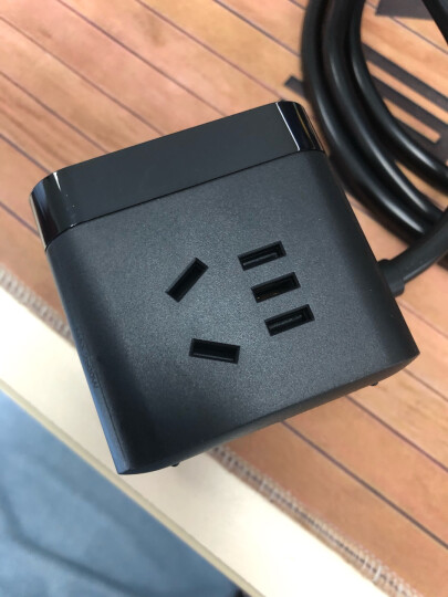 公牛(BULL)   魔方智能USB插座 插线板/插排/排插/接线板/拖线板  GN-U303H 黑色魔方USB插座全长1.5米 晒单图