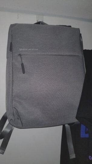 小米极简都市双肩包 休闲商务笔记本电脑包14英寸 男女书包双肩背包 浅灰色 晒单图