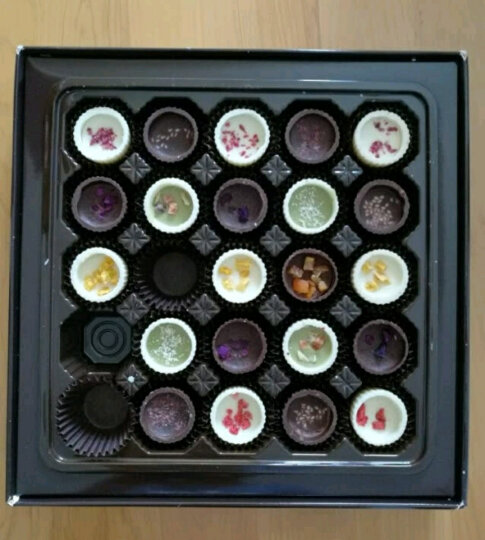 怡浓浪漫满屋纯脂手工黑巧克力礼盒 生日七夕情人节礼物送女友  325g 晒单图