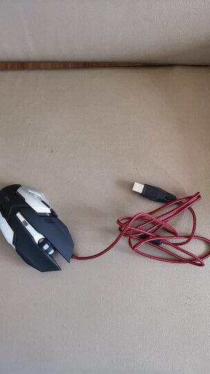 沃野牧马人静音游戏鼠标有线笔记本台式机电脑家用办公 LOL吃鸡CF绝地求生宏电竞非无声加重 XT5机械蛇升级版磨砂黑(按键静音) 晒单图