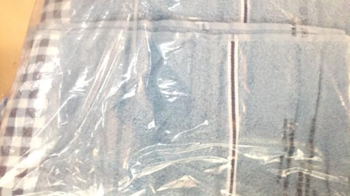 亚光 浴巾 纯棉素色吸水浴巾 亲肤家用 巅峰爆款 蓝色 68*138cm 晒单图