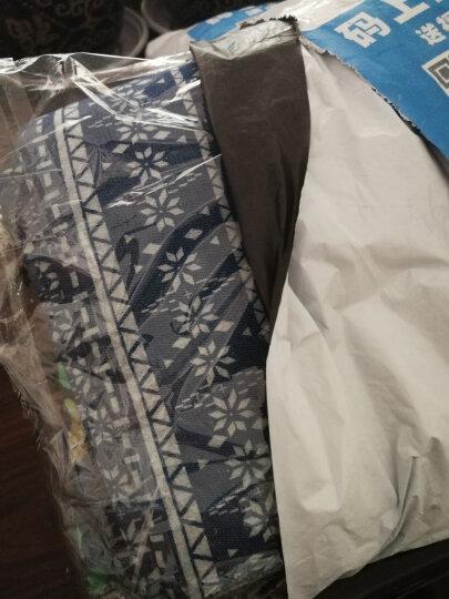彩色水洗印花牛仔布料 纯棉服装薄款厚裤子裙子夏季柔软衬衫面料 4#彩色三叶草(半米价) 晒单图