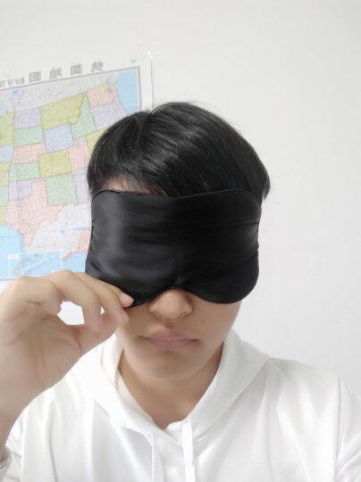 加加林 真丝眼罩 桑蚕丝眼罩男女通用睡眠遮光透气 太空灰 晒单图
