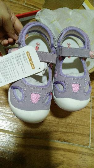 基诺浦 学步鞋 1岁-5岁宝宝机能鞋 儿童软底鞋子 幼儿童鞋 男女幼童 夏季 TXG126 浅粉 6码/鞋垫长14cm 晒单图
