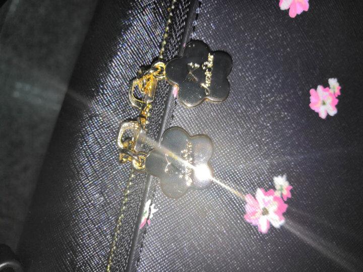 欧时纳(JUST STAR)单肩包女新款女包 手提包简约时尚女包包 甜萌原创设计小猫包JS982子夜黑 晒单图