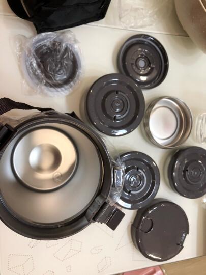 泰福高(TAFUCO)保温饭盒 304不锈钢保温提锅大容量四层免加热保温桶 T-2651桃粉色2.3L赠保温包 晒单图