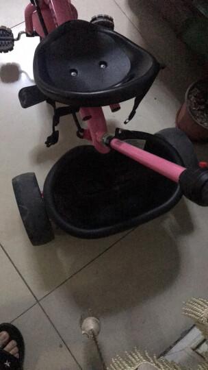 乐卡(Lecoco)儿童三轮车多功能婴幼儿童脚踏车1-3-5岁简易自行车多功能手推车 蜜桃粉 晒单图