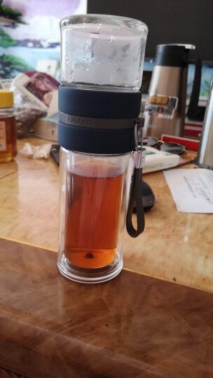 富光 泡茶师礼盒装系列玻璃杯 双层透明茶水分离杯 带滤网便携办公玻璃茶杯水杯子 套装 黑色 240ml(G1601-SH-240S) 晒单图