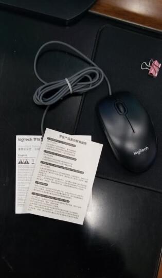 罗技(Logitech)M90 有线鼠标 即插即用 舒适可靠 黑色 晒单图