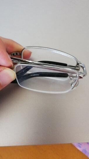 夕阳红折叠老花镜男女通用 高清便携舒适 AC镀膜镜片  JX6007 200度 晒单图