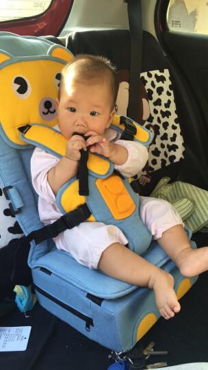 泽幼屋isofix接口安全带固定器便携式车载宝宝增高垫小孩简易婴儿童汽车用安全座椅0-4-6岁 牛仔 申通快递 晒单图