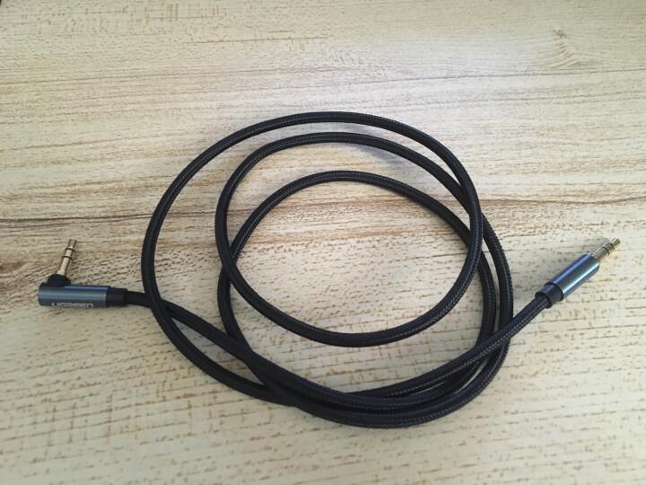 绿联(UGREEN)车用AUX音频线 3.5mm公对公车载立体声连接线 1米 手机电脑接耳机功放音响线 深蓝色 40402 晒单图