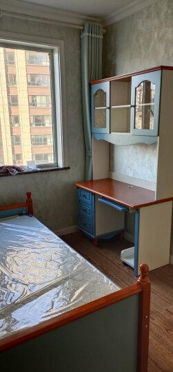 优漫佳 台式电脑桌 儿童书桌书柜组合 直角转角电脑桌 地中海写字台 海洋蓝 直角电脑台 1.0米 包含椅子 晒单图