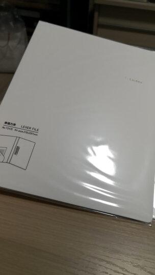 得力(deli)乐素系列A4单强力夹+插袋文件夹资料夹 学生收纳夹 层云白 晒单图