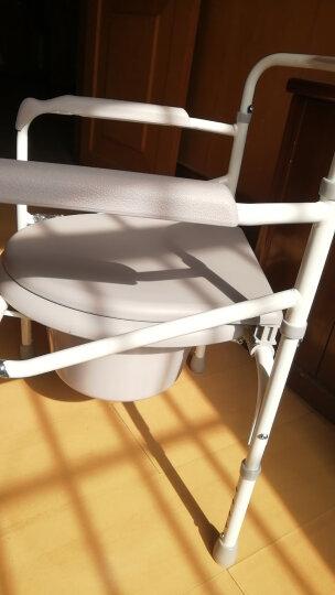 鱼跃(YUWELL)轮椅 加强铝合金 软座便携 H056C 老人手动轮椅车免充气可折叠 晒单图