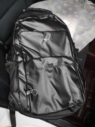 七匹狼(SEPTWOLVES)双肩包男士旅行多功能背包商务出差大容量轻便简约行旅包书包 加大版亮面 晒单图