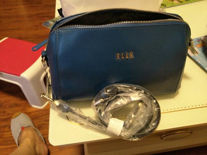 ELLE女款牛皮女包摔纹牛皮时尚大牌简约小包E27S1230362BU蓝色 晒单图