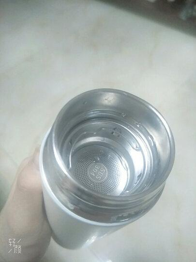 然也(RAE)450ml双层真空304不锈钢保温杯壶男女大容量带茶隔过滤泡茶杯便携商务办公水杯子象牙白R3103 晒单图