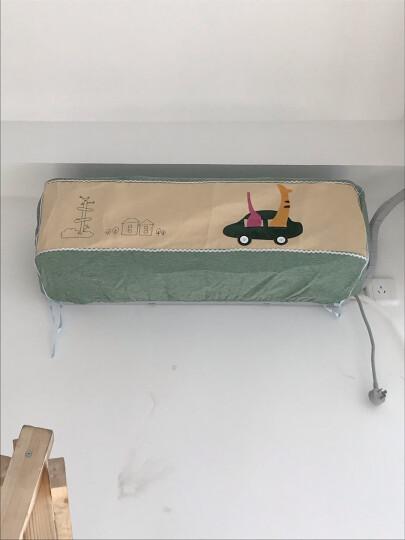 漫笛儿 空调罩 挂机 全包布艺空调罩格力室内挂机罩子1.5p卧室壁挂防尘保护套 小羊肖恩 90*21*31 晒单图