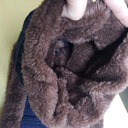 杜森纳(DUSENNA)帽子男冬季韩版保暖帽加绒毛线帽男防寒防风骑行男士针织帽 男士麻花套帽 灰色 晒单图