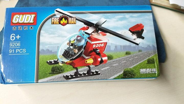 古迪儿童积木拼装玩具消防总局火警系列立体拼插模型男孩玩具6岁以上 抢救失火森林9216 晒单图