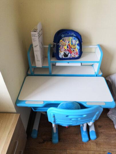 米哥 儿童学习桌 儿童学习桌椅套装 小学生写字桌椅课桌家用 可调节儿童书桌 MG305尊享版-置物架 公主粉 桌椅套装+护眼灯 晒单图
