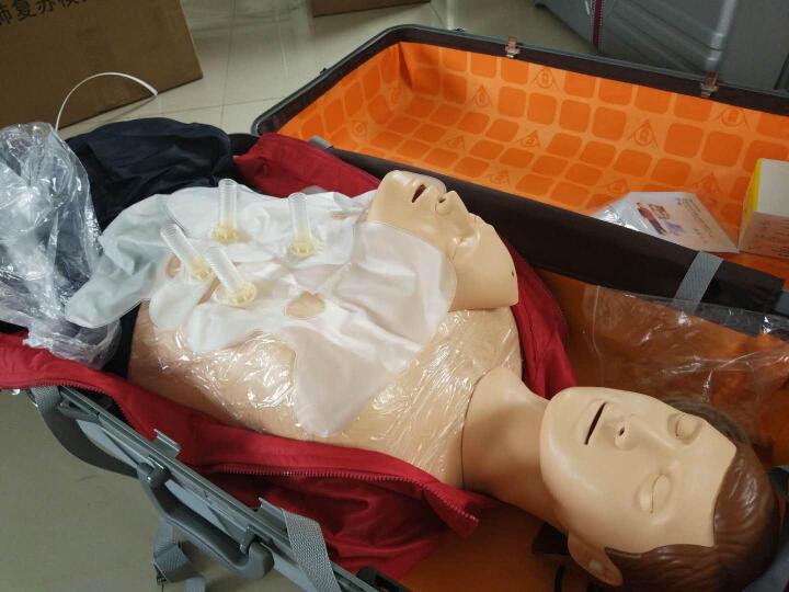 沪模HM/CPR心肺复苏模拟人医学教学模型 多功能 医学急救人体模型 CPR急救安全训练假人橡皮人 HM/CPR490标配/全身皮箱装 晒单图