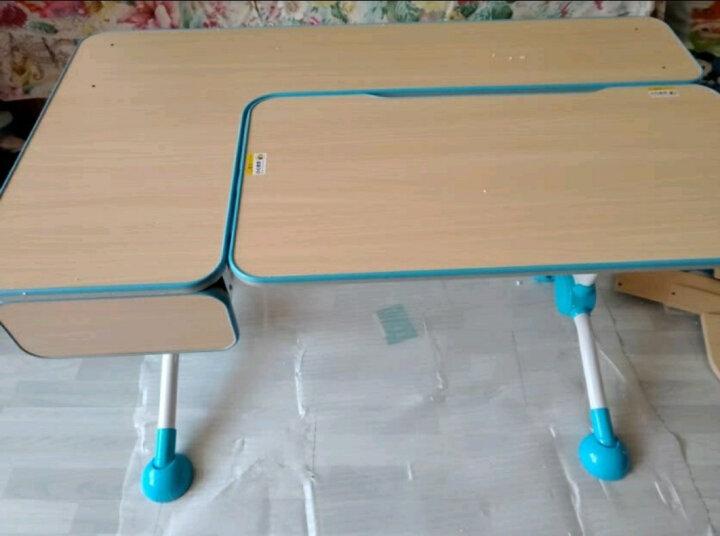 心家宜 儿童学习桌椅套装 学习桌可升降儿童书桌学生书桌写字桌课桌椅组合111+229 王子蓝 105cm枫木色学习桌+书架+学习椅 晒单图