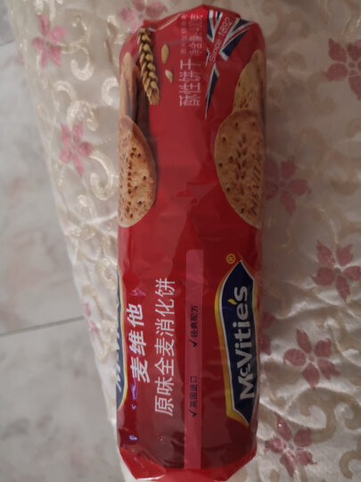英国进口 麦维他(Mcvitie's)原味全麦粗粮酥性消化饼干 400g 早餐下午茶零食 晒单图