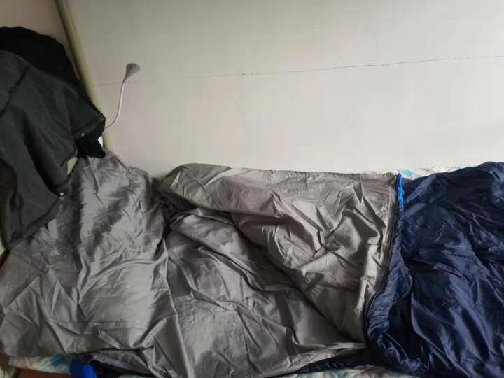 北山狼(BSWOLF)隔脏睡袋成人户外冬季双人 蓝色2.3KG 晒单图