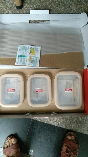 乐扣乐扣(lock&lock)微波炉饭盒 玻璃套装保鲜盒 套装三件套(740ml*2+1130ml)LLG447S005 晒单图