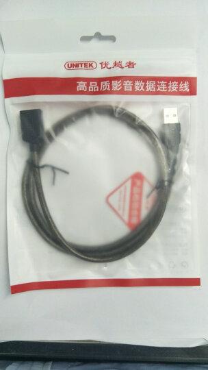 优越者(UNITEK))usb延长线 公对母 高速传输数据转接线 AM/AF 电脑USB/U盘鼠标键盘耳机加长线0.5米Y-C447EBK 晒单图