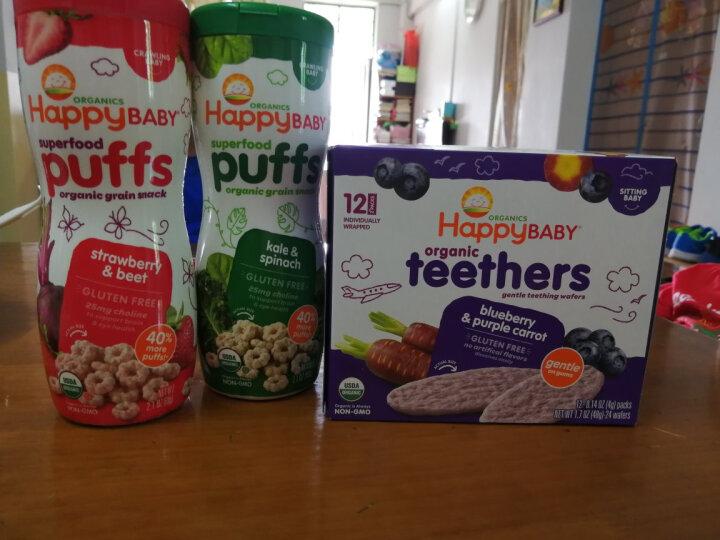 禧贝(Happy Baby)美国进口泡芙宝宝零食婴儿零食辅食磨牙小馒头溶豆8个月以上 草莓甜菜泡芙 晒单图