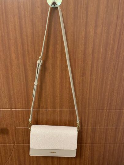 纽芝兰(NUCELLE)包包女士单肩手提包铆钉单肩韩版斜挎小方包潮流手机包 149荷叶粉 晒单图