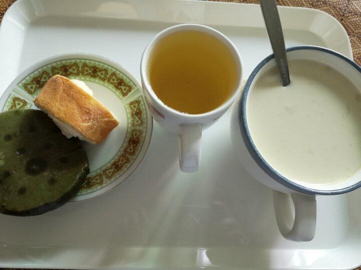 KORDCO 大可餐具密胺托盘酒店托盘茶盘家用放水杯托盘长方形蛋糕面包盘仿瓷白色托盘餐盘 PN338长38宽28cm 晒单图