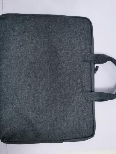 得力(deli) 双层文件袋A4 帆布袋手提袋 商务会议包公文袋公文包资料袋 办公用品 升级加厚款 5590【灰色】 晒单图