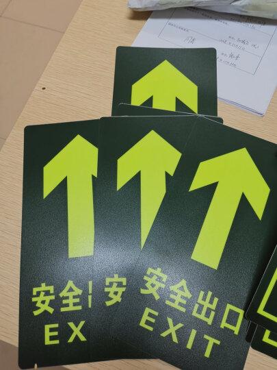 深中义 消防荧光安全出口直行夜光地贴 疏散标识指示牌方向指示牌小心地滑台阶 夜光小心地滑 晒单图