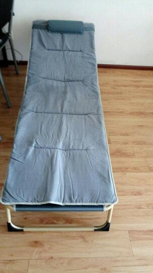奇晟铭源 折叠床单人 单人床 躺椅 午休床 床加棉垫子 简易陪护床行军床 午睡床 SY-013 银灰色床+毛绒垫 晒单图