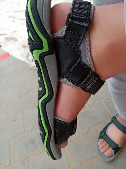 伶羊凉鞋男沙滩鞋夏季透气男士凉鞋休闲大码皮凉鞋户外防滑亲子凉鞋鞋 浅棕(皮鞋码 比运动鞋大一码) 43 晒单图