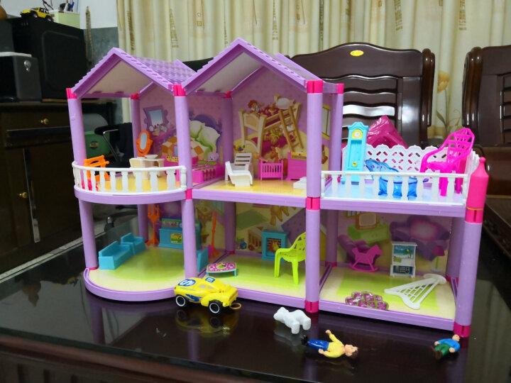 娃娃的房子公主梦幻大别墅之梦想豪宅过家家3-10岁女孩防真度假床屋套装礼盒玩具 958 小娃娃+别墅+背包+贴纸 晒单图