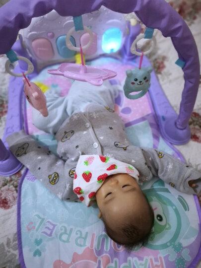 育儿宝 婴儿健身架宝宝幼儿玩具儿童脚踏钢琴脚踩躺着0-1岁6个月 电池版+直充飞碟故事机【送摇铃两件套+螺丝刀】 晒单图