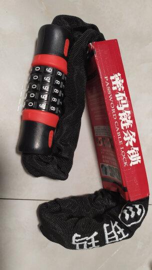 玥玛7737山地自行车死飞电动摩托车电瓶车锁 五位密码锁加长布套链条防盗锁玻璃门锁 晒单图