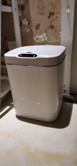 快乐猫(KLM)分类垃圾桶 超大号φ295mm稳固金属丝网垃圾篓 办公室居家纸篓 B295黑色 晒单图