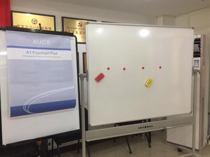 VIZ-PRO 移动白板写字板 办公室磁性黑板大白板支架式 双面投影搪瓷150*120cm 晒单图
