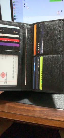 稻草人男士钱包 头层牛皮长款钱包 钱夹男皮夹黑色MYX30215M-02 晒单图